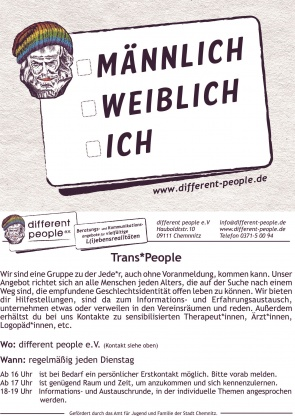 Flyer Trans* (Bild: different people e.V.)