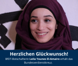 Leila YounesEl-Amaire, BfDT-Botschafterin 2019 © BfDT