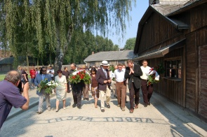 Delegation in Auschwitz-Birkenau