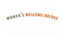 Logo der Initiative: WOMEN`S WELCOME BRIDGE. Berlinerinnen bauen Brücken